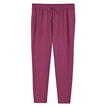 Buy Violeta by Mango Flowy Printed Trousers, Medium Purple Online at johnlewis.com