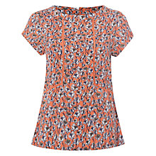 Buy White Stuff Artist Floral Top, Papaya Pink Online at johnlewis.com