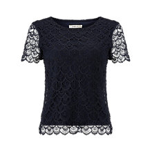Buy Precis Petite Scallop Lace Top Online at johnlewis.com