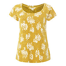 Buy White Stuff Weeping Willow Print Emb T-Shirt, Nectar Yellow Online at johnlewis.com