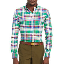 Buy Polo Ralph Lauren Slim Fit Sports Shirt, Green/White Online at johnlewis.com