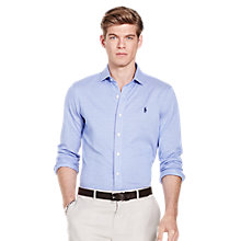 Buy Polo Ralph Lauren Long Sleeve Pin Point Collar Shirt, Maidstone Blue/White Online at johnlewis.com