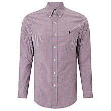 Buy Polo Ralph Lauren Check Sport Slim Fit Shirt, Red/Blue Online at johnlewis.com
