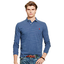 Buy Polo Ralph Lauren Long Sleeve Polo Shirt, Royal Blue Online at johnlewis.com