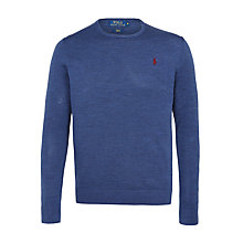 Buy Polo Ralph Lauren Slim Fit Jumper, Shale Blue Online at johnlewis.com
