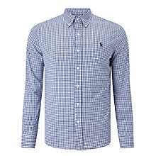 Buy Polo Ralph Lauren Mini Gingham Slim Fit Sport Shirt, Holiday Navy Online at johnlewis.com