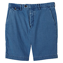 Buy Jigsaw Cotton Double Face Shorts, Indigo Online at johnlewis.com