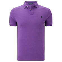 Buy Polo Ralph Lauren Slim Fit Polo Shirt, Vista Purple Online at johnlewis.com