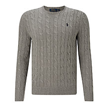 Buy Polo Ralph Lauren Cable Knit Sweater Online at johnlewis.com