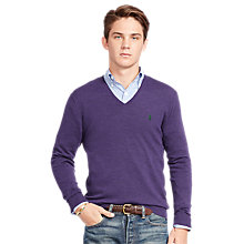 Buy Polo Ralph Lauren Slim Fit V-Neck Jumper Online at johnlewis.com
