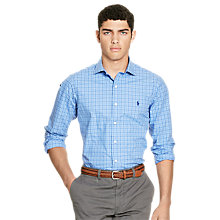 Buy Polo Ralph Lauren Estate Pin Point Collar Shirt, Liquid Blue Multi Online at johnlewis.com