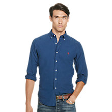 Buy Polo Ralph Lauren Slim Fit Button Down Pin Point Collar Sport Shirt, Seagate Blue Online at johnlewis.com
