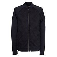 Buy Pretty Green Midhurst Jacquard Track Top, Black Online at johnlewis.com