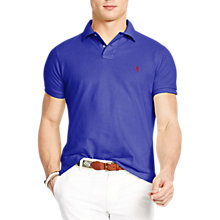 Buy Polo Ralph Lauren Regular Fit Polo Shirt, Royal Blue (Heritage Royal) Online at johnlewis.com