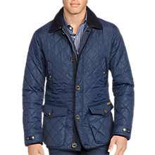 Buy Polo Ralph Lauren Car Coat Quilted Jacket, College Navy Online at johnlewis.com