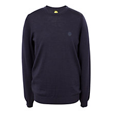 Buy Pretty Green Mosely Crew Neck Jumper, Navy Online at johnlewis.com