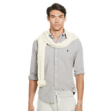 Buy Polo Ralph Lauren Slim Fit Sport Shirt, Quartz Grey Online at johnlewis.com