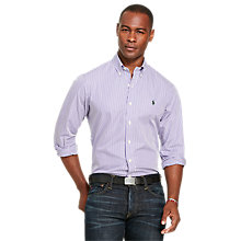 Buy Polo Ralph Lauren Pin Point Collar Shirt, Mauve Purple/Lauren Online at johnlewis.com
