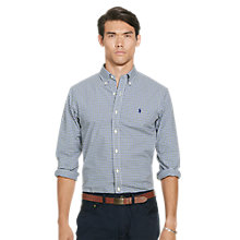 Buy Polo Ralph lauren Slim Fit Sport Shirt, Green/Blue Online at johnlewis.com