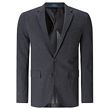 Buy Polo Ralph Lauren Long Sleeve Knit Blazer, Grey Heather Online at johnlewis.com