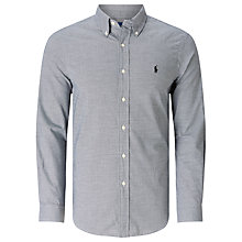 Buy Polo Ralph Lauren Slim Fit Shirt, Black/White Online at johnlewis.com