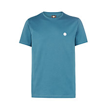 Buy Pretty Green Crew Neck T-Shirt, Teal Online at johnlewis.com