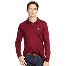 Buy Polo Ralph Lauren Custom Fit Long Sleeve Polo Shirt, Wine Online at johnlewis.com