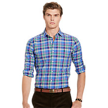 Buy Polo Ralph Lauren Sport Shirt, Liberty Blue/Pine Online at johnlewis.com