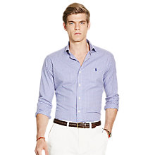 Buy Polo Ralph Lauren Slim Fit Shirt, Lavender/Blue Multi Online at johnlewis.com