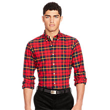 Buy Polo Ralph Lauren Button Down Check Sports Shirt, Red/Black Online at johnlewis.com