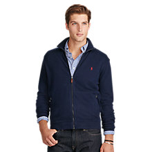 Buy Polo Ralph Lauren Long Sleeve Full Zip Jersey Top Online at johnlewis.com