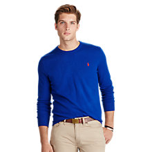 Buy Polo Ralph Lauren Crew Neck Merino Jumper, Royal Blue Online at johnlewis.com