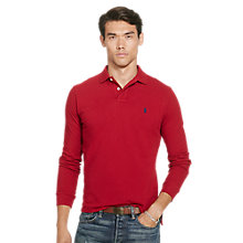 Buy Polo Ralph Lauren Custom Fit Long Sleeve Polo Shirt, Eaton Red Online at johnlewis.com