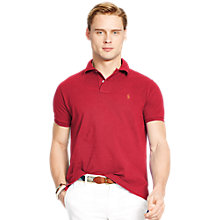 Buy Polo Ralph Lauren Regular Fit Polo Shirt, Eaton Red Online at johnlewis.com