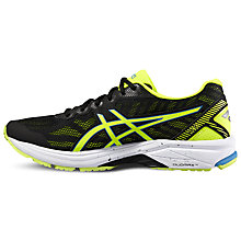 Buy Asics GT-1000 5 Men's Running Shoes, Black/Yellow Online at johnlewis.com