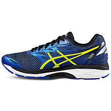 Buy Asics Gel-Cumulus 18 Men's Running Shoes, Blue/Yellow Online at johnlewis.com