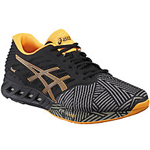 Buy Asics Fuzex Men's Running Shoes, Black/Hot Orange Online at johnlewis.com