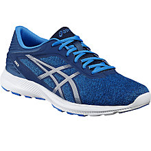 Buy Asics Fuzex 80 Men's Running Shoes, Blue/White Online at johnlewis.com