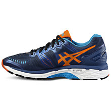 Buy Asics GEL-Kayano 23 Men's Structured Running Shoes, Blue/Orange Online at johnlewis.com