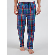 Buy Polo Ralph Lauren Brighton Check Woven Cotton Lounge Pants, Blue/Red Online at johnlewis.com