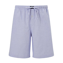 Buy Polo Ralph Lauren Oxford Cotton Sleep Shorts, Blue Online at johnlewis.com