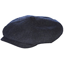 Buy Ted Baker Newbe Textured Baker Boy Hat, Navy Online at johnlewis.com