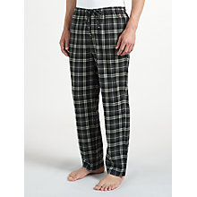 Buy Polo Ralph Lauren Classic Flannel Check Lounge Pants, Black/Grey Online at johnlewis.com