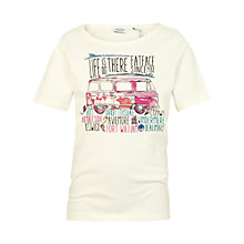Buy Fat Face Girls' Aloa Land Summer Tour T-Shirt, Ecru Online at johnlewis.com