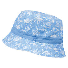 Buy Fat Face Girls' Ocean Print Bucket Hat, Marina Blue Online at johnlewis.com