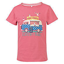 Buy Fat Face Girls' Catch of the Day T-Shirt, Deep Coral Online at johnlewis.com