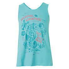Buy Fat Face Girls' Rockpool Adventure Vest Top, Dusky Aqua Online at johnlewis.com