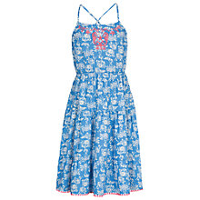Buy Fat Face Girls' Evie Ocean Print Dress, Marina Blue Online at johnlewis.com