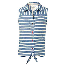 Buy Fat Face Girls' Rebecca Stripe Print Blouse, Ink Online at johnlewis.com