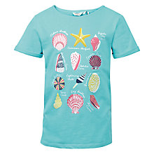 Buy Fat Face Girls' Shell Fact T-Shirt, Dusky Aqua Online at johnlewis.com